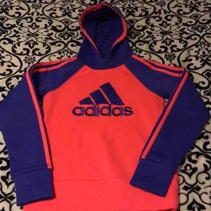 Girls SMALL 7/8 Adidas Dry Fit Hoodie